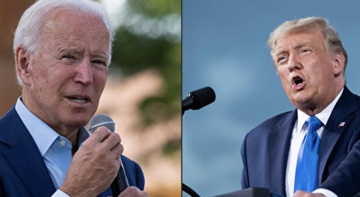 美國總統特朗普和民主黨總統候選人拜登。(JIM WATSON and Brendan Smialowski/AFP)