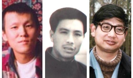 (從左至右)被中共在新年裏虐殺的法輪功學員:于宙、趙明祥、張川生。(大紀元合成圖)