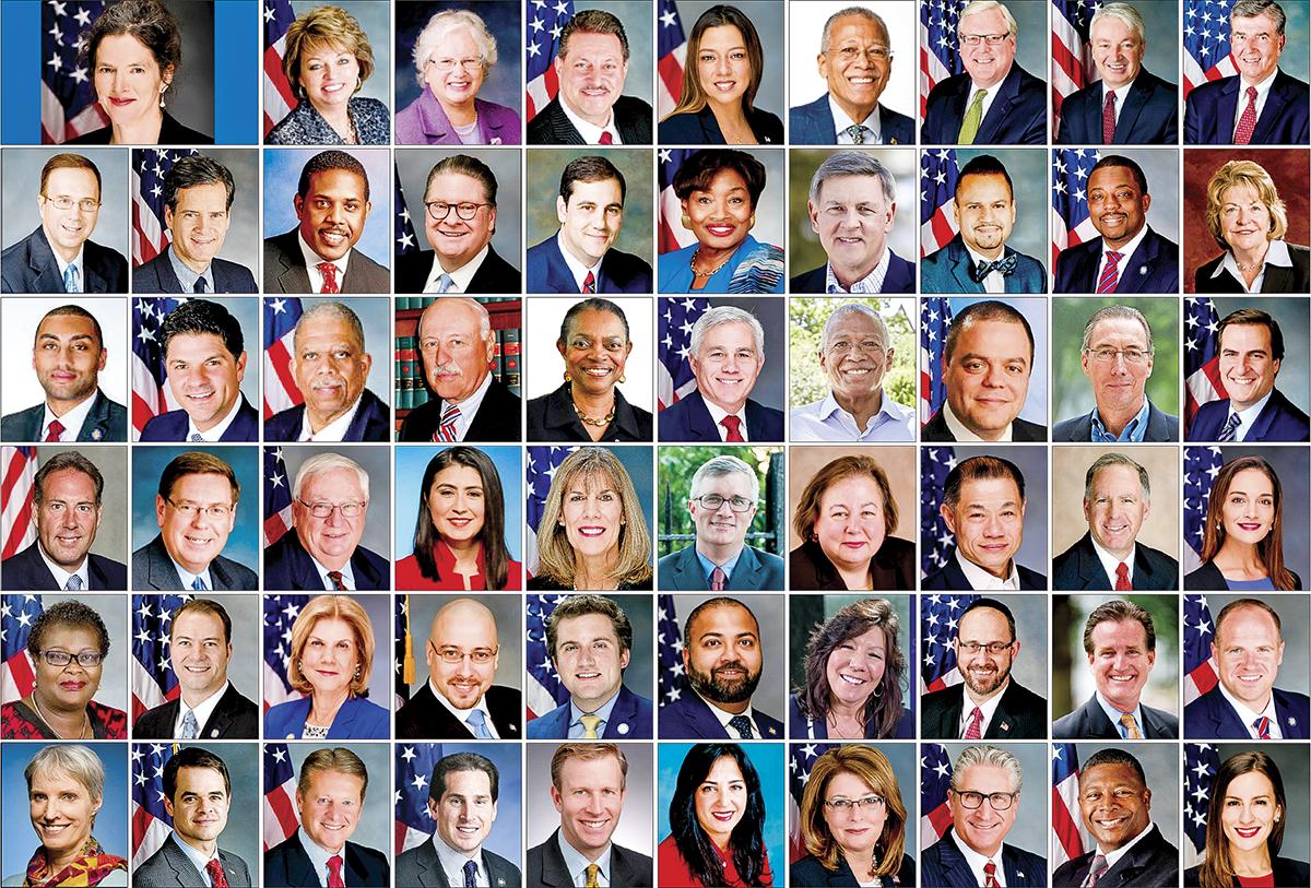 紐約州參議員Jen Metzger發起議案,58位州參議員聯署,褒獎「第二十屆世界法輪大法日」,紐約州參議會全票通過。(大紀元合成)