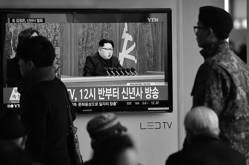 近期北韓領導人金正恩行蹤成謎,身體狀況也眾說紛紜。(Getty Images)