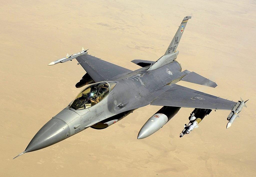圖為F-16戰鬥機。(公有領域)