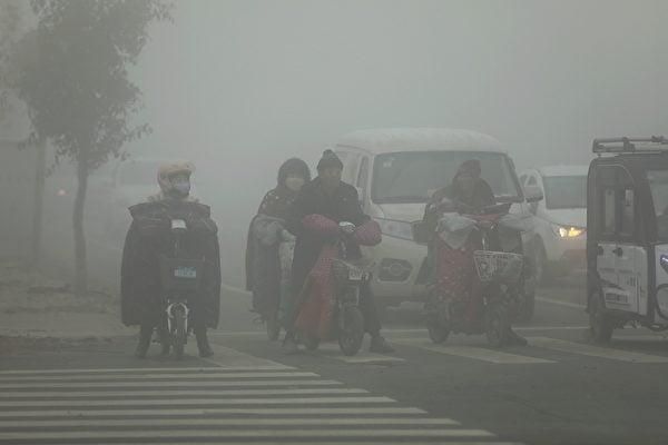 陰霾襲華北黃淮汾渭 69城發重污染預警