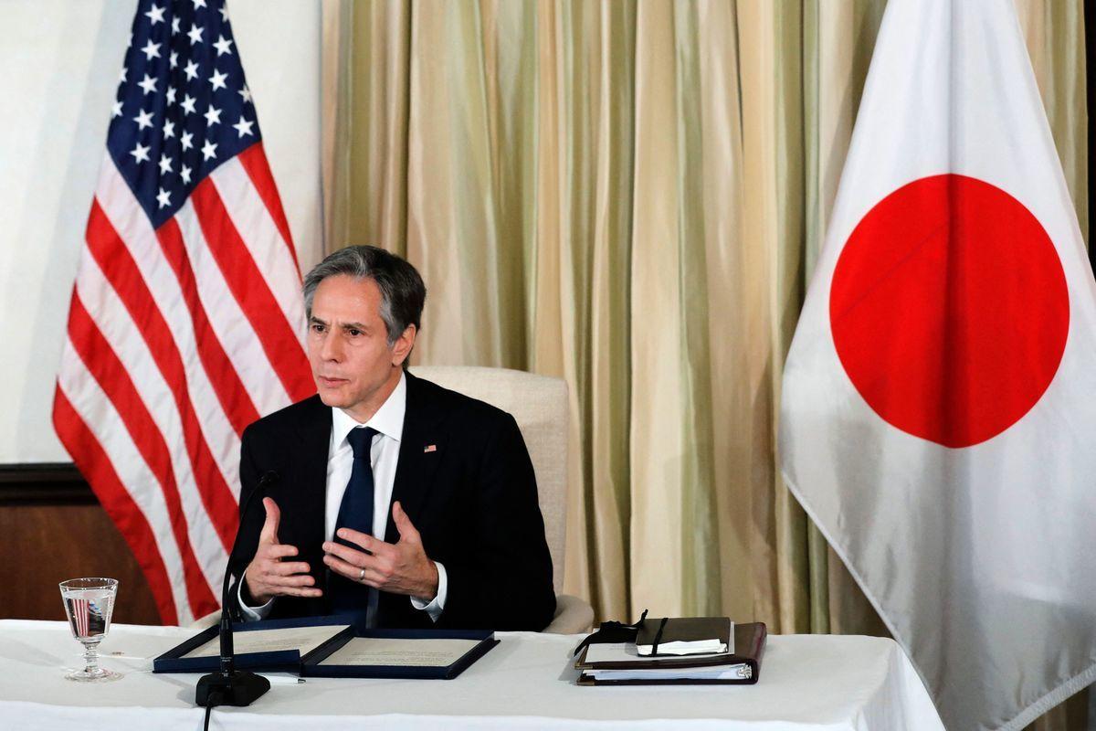 美國國務卿布林肯譴責中共的「疫苗外交」帶有附加條件。(KIM KYUNG-HOON/POOL/AFP via Getty Images)