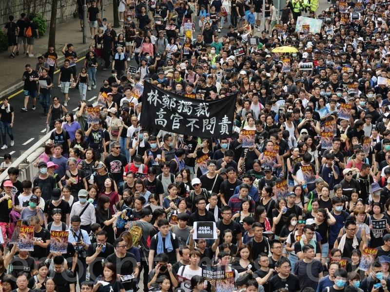 【7.7反送中組圖】逾23萬港人上九龍街頭遊行