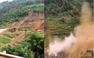 雲南彝良山體大面積崩塌 兩人被埋多房倒塌
