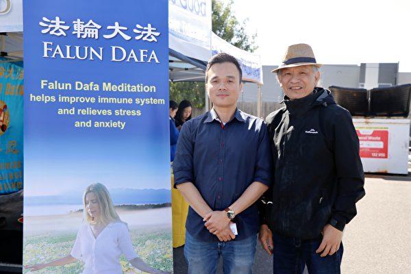 圖(左)為墨爾本越南大法弟子陳本。(李奕/大紀元)