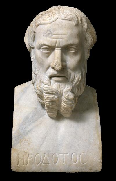 希羅多德的石雕半身像。(公有領域)