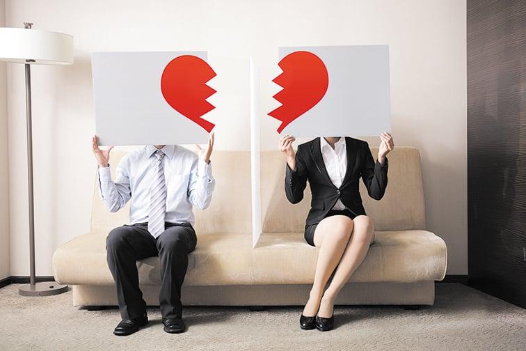 近期,中共民政部公佈2020年31省(市)結婚離婚登記數據,顯示結婚人數創17年來的新低,而離婚結婚比最高的要數東三省。(Shutterstock)