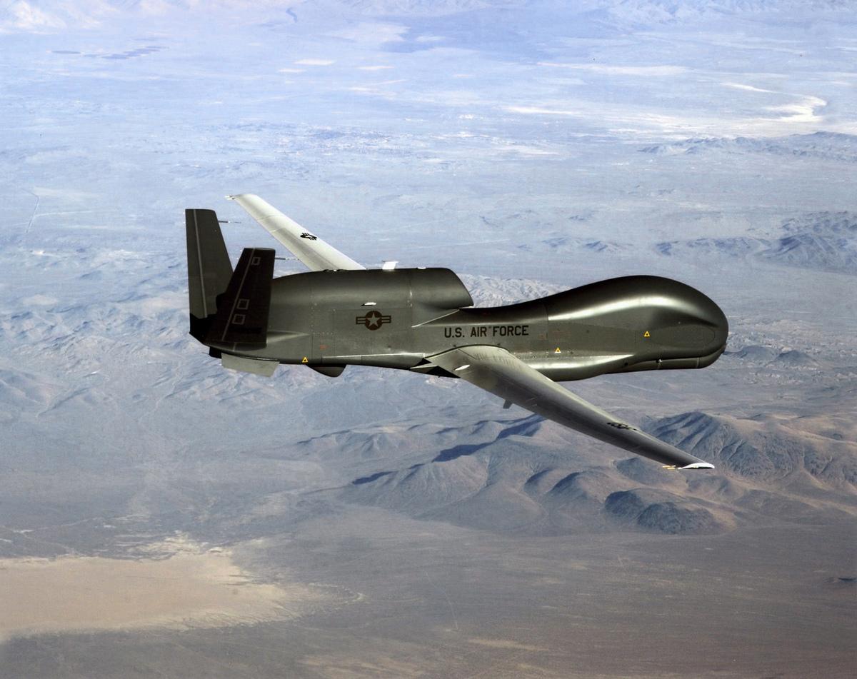 美軍RQ-4無人偵察機。(AFP PHOTO / US AIR FORCE/HANDOUT)