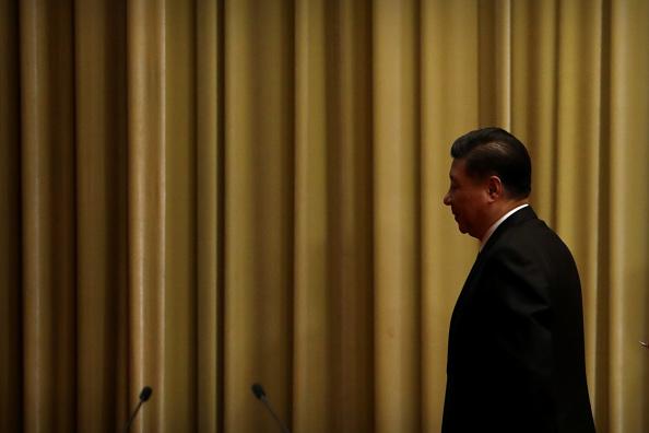 1月2日,中國國家主席習近平發表對台灣講話,強調「一國兩制」。(Mark Schiefelbein-Pool/Getty Images)