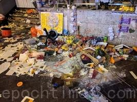 組圖:警方太子站清場 祭壇遭破壞