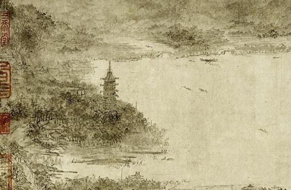 南宋疫病較多發生在以臨安為中心的兩浙地區,而該地區正是皇帝及其重臣們居住的所在。圖為宋人《西湖圖》局部。(公有領域)