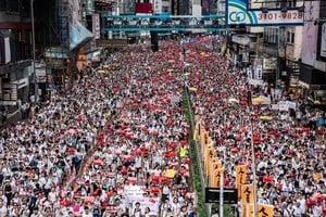 組圖:香港百萬人「反送中」遊行 場面震撼