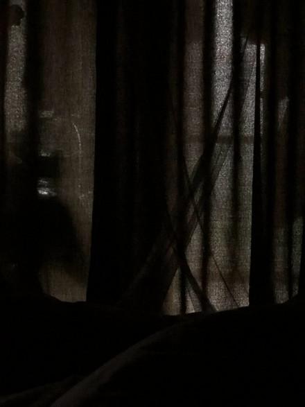 5月25日中午四川成都瞬間天黑。(微博圖片)
