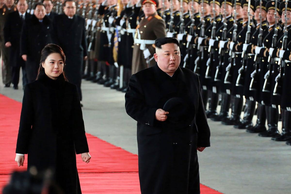 中共及北韓官媒在北京當地時間周二(8日)證實,金正恩定於1月7日至1月10日訪華。(KCNA VIA KNS / KCNA VIA KNS / AFP)
