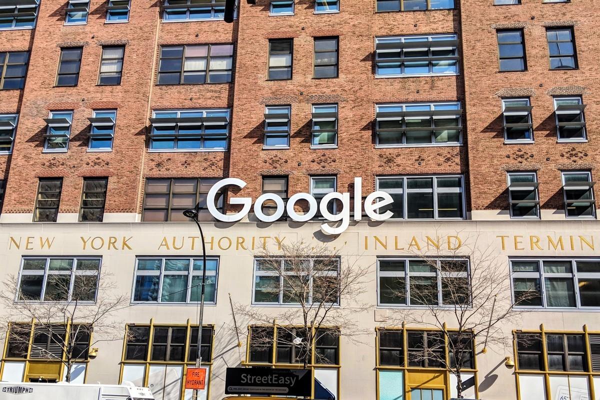谷歌公司在紐約市曼哈頓第9大道交西15街的辦公室。(黃小堂/大紀元)