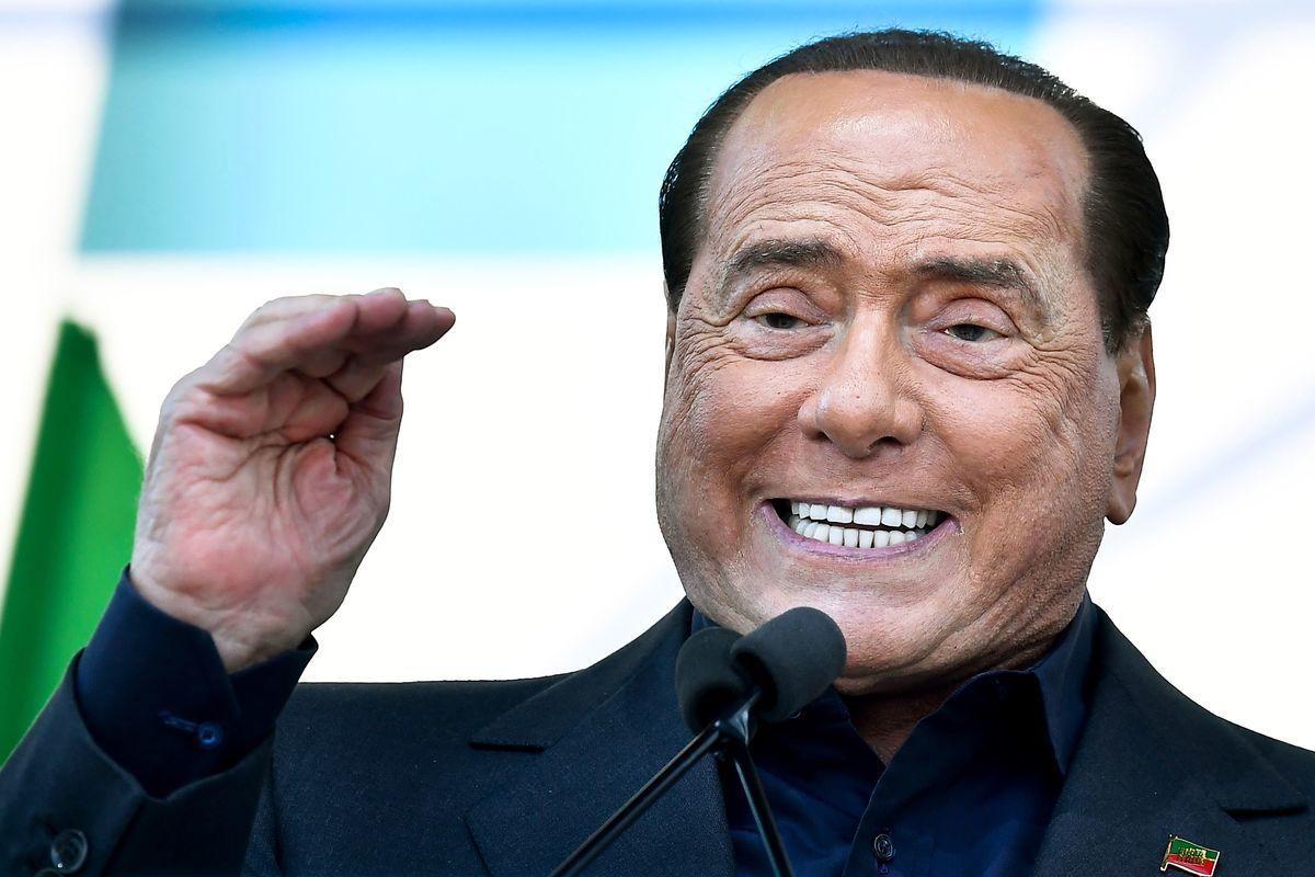 意大利前總理貝盧斯柯尼(Silvio Berlusconi)感染中共病毒(俗稱武漢病毒、新冠病毒)。(攝於2019年10月19日)(TIZIANA FABI/AFP via Getty Images)