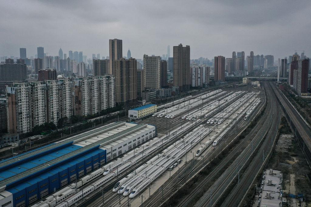 中共肺炎失控,湖北省隨後封省。圖為封城中的武漢。 (Getty Images)+