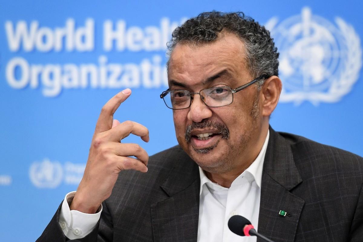 圖為世衛組織總幹事譚德塞。(Tedros Adhanom Ghebreyesus)。(FABRICE COFFRINI/AFP)