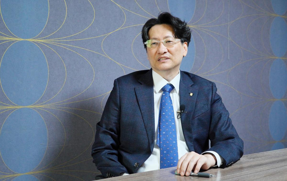 現代史專家、南韓明知大學教授姜圭炯。(李裕貞/大紀元)