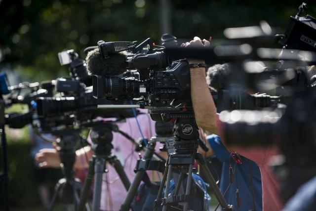 外交部10日表示,共計235位外籍記者、113家國際媒體來台採訪選舉。圖為示意圖。(Stephen Maturen/Getty Images)