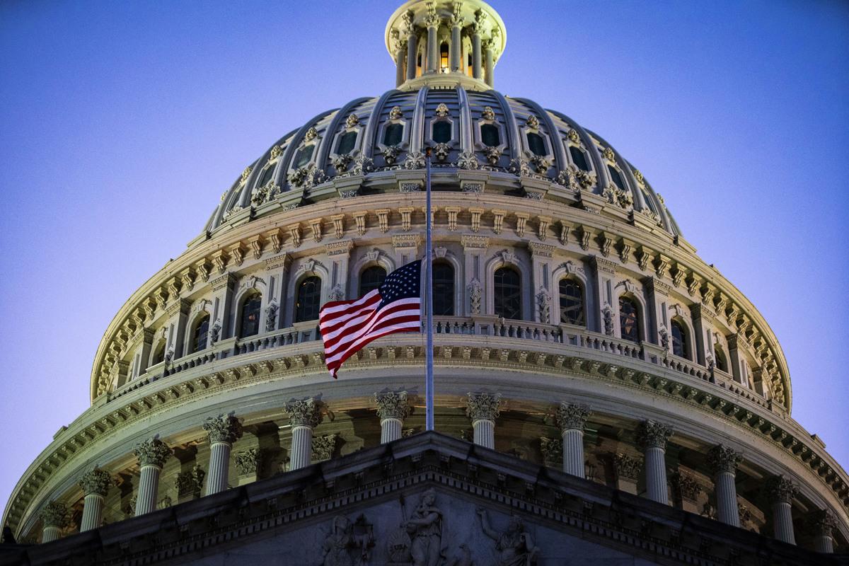 2021年2月23日,美國國會大廈。(Al Drago/Getty Images)