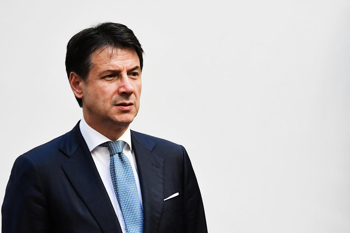 意大利總理朱塞佩•孔特(Giuseppe Conte)2019年11月26日於羅馬。(Andreas SOLARO/AFP)