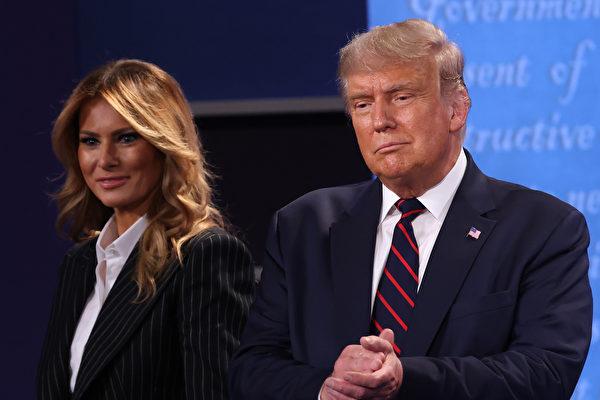 周四(10月1日),特朗普總統確認白宮顧問、希普‧希克斯(Hope Hicks)的中共病毒檢測呈陽性,並宣佈自己和第一夫人將開始自我隔離。(SAUL LOEB/AFP via Getty Images)