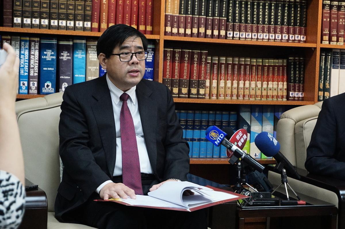 台灣外交部北美司司長陳立國資料照。(李怡欣/大紀元)
