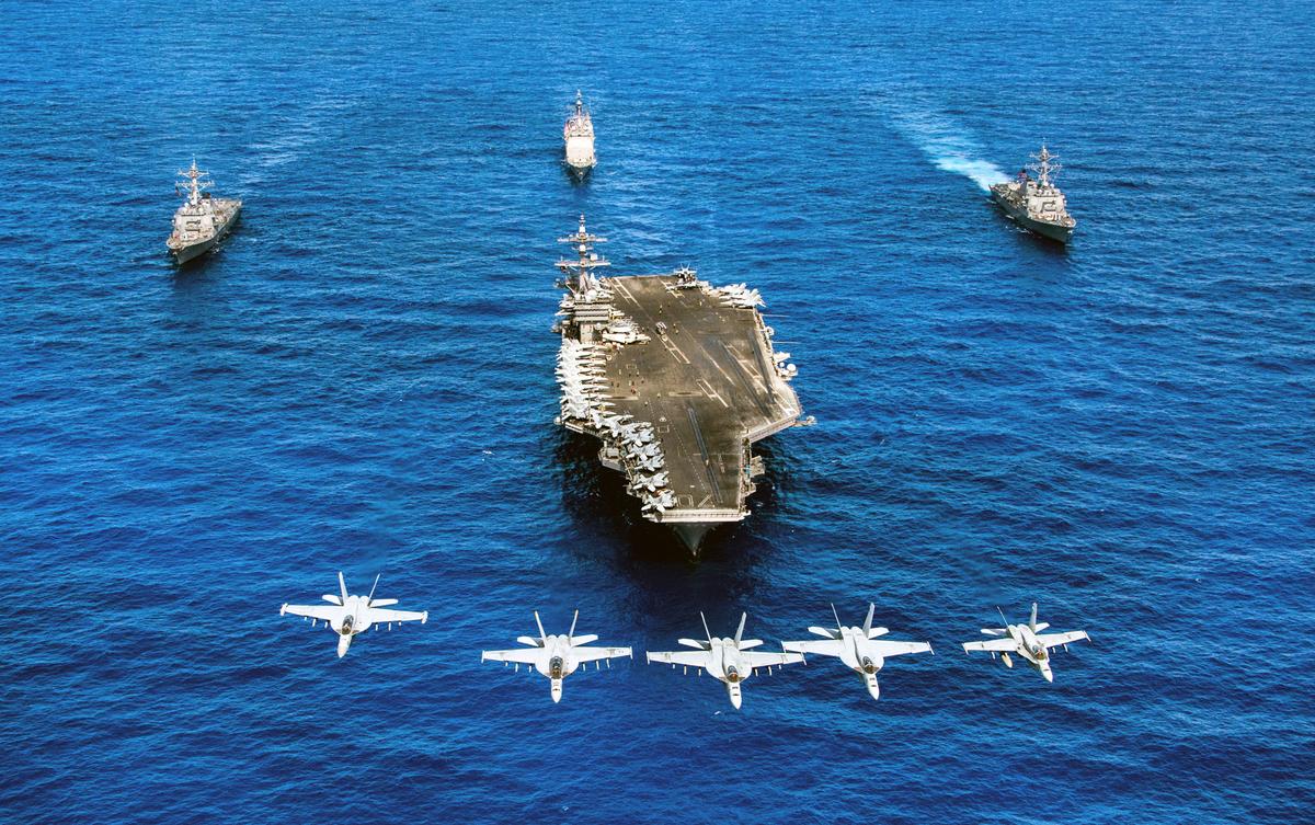 美國航空母艦卡爾文森號。 (AFP)