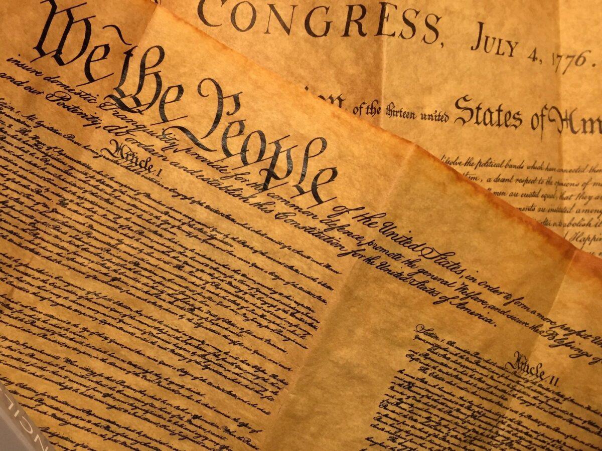 美國憲法的示意圖。(Pixaba)