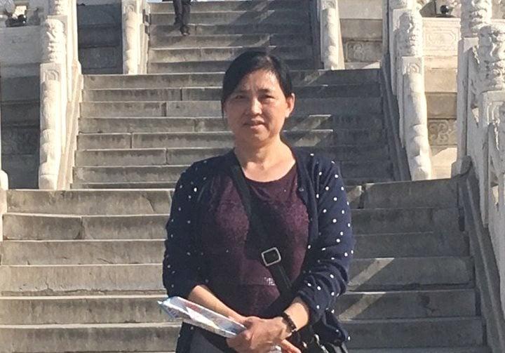 山東平度市法輪功學員展中香自2019年9月24日被非法關押至今。(明慧網)