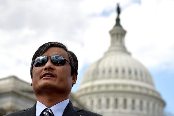 流亡美國的中國維權律師陳光誠。圖為資料照。(AFP)