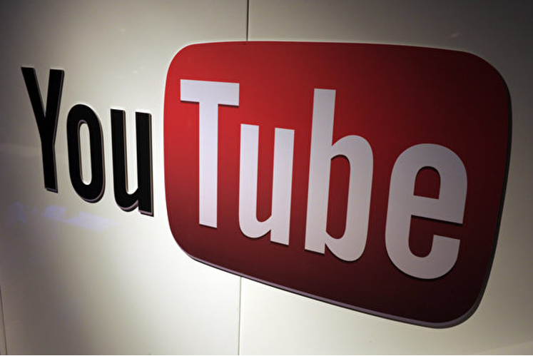 YouTube標誌。(ERIC PIERMONT/AFP/Getty Images)
