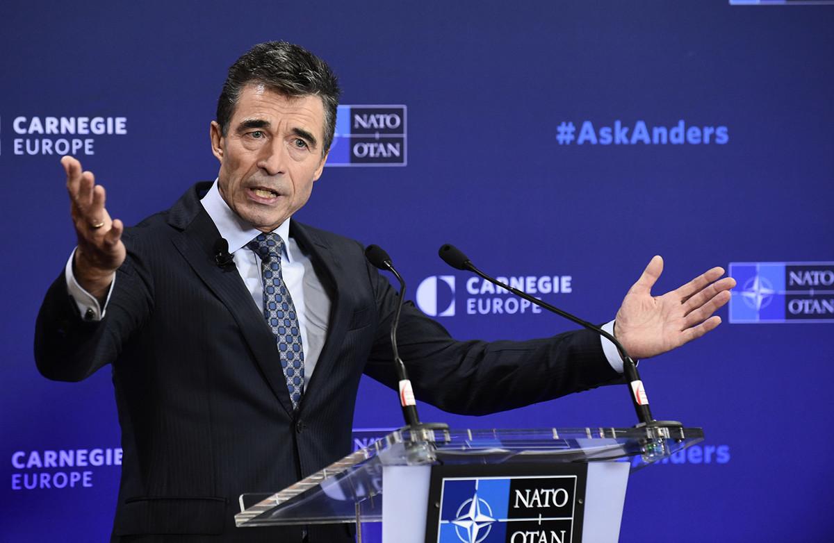 前北約秘書長安德斯·福格·拉斯穆森(Anders Fogh Rasmussen)。(攝於2014年9月15日)(JOHN THYS/AFP)