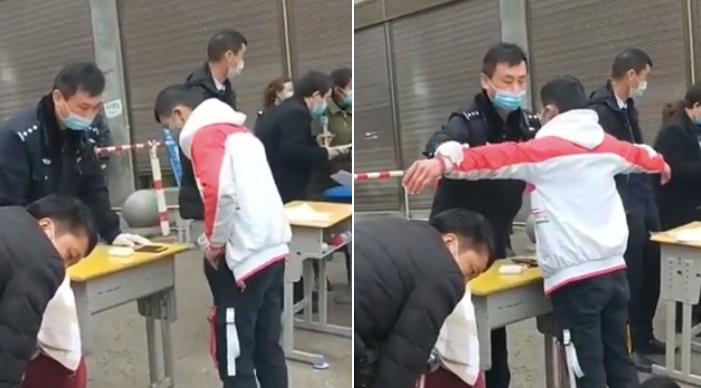 【現場影片】貴州畢節開學 學生入學被搜身