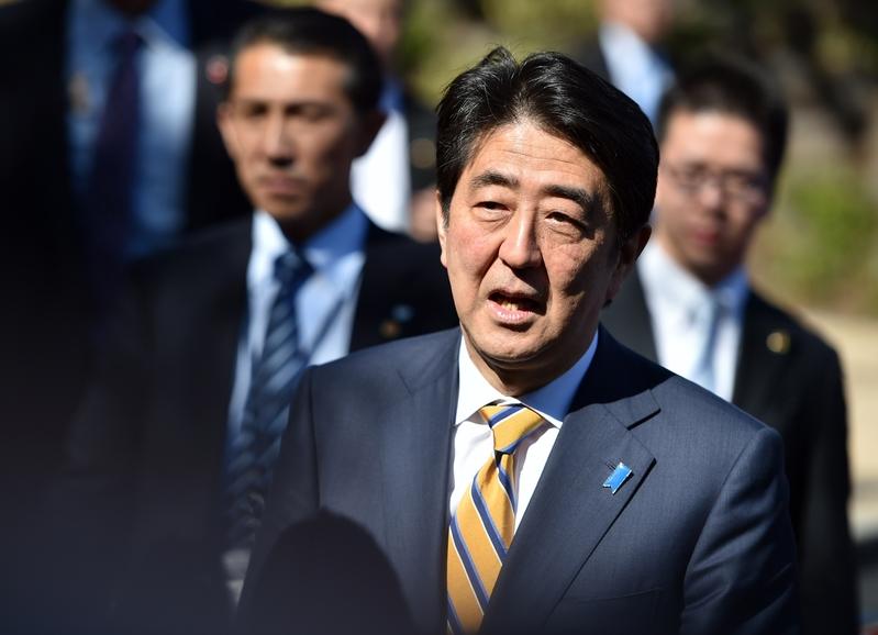 日本首相安倍晉三資料照。(Josh Edelson/AFP/Getty Images)