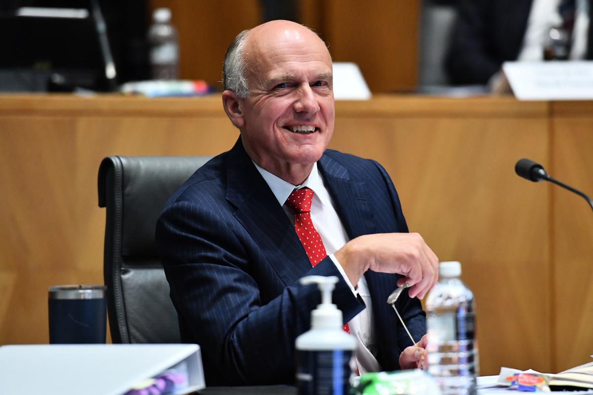 2021年4月22日,澳洲聯邦參議員阿貝茲(Eric Abetz)對大紀元表示,他非常歡迎澳洲政府廢除維州地方政府與中共簽署的「一帶一路」協議的決定。(Sam Mooy/Getty Images)