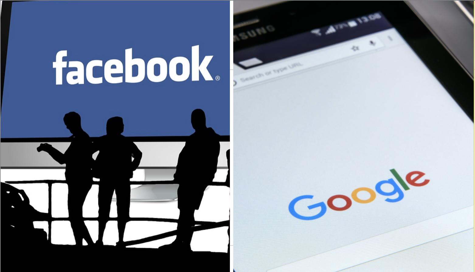 面書、推特、谷歌在香港面臨言論自由考驗。(大紀元合成)