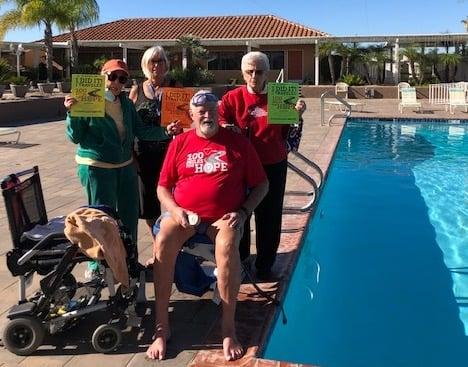 理‧帕克(Charlie Parker)是美國海軍的退役軍人。他為美國退伍軍人協會(American Legion)的活動在89天內游了100英里的距離。(查理‧帕克提供)