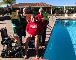 為退役軍人募款 美國老兵游泳100英里