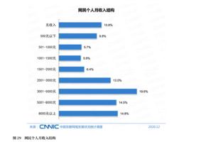 報告:中國月收入超5千的網民不足三成