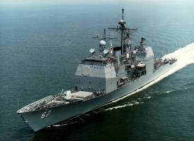 美海軍導彈巡洋艦穿越台灣海峽 今年首次