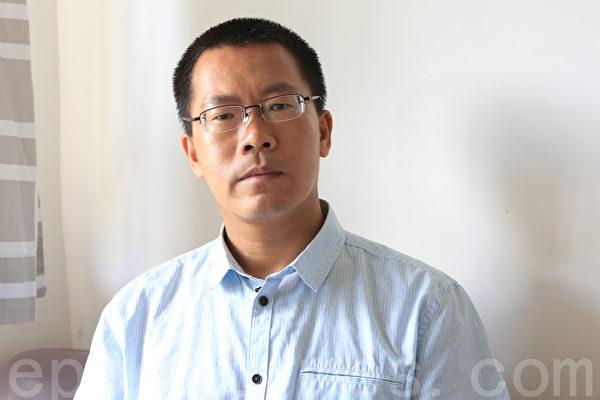 原大陸維權律師、美國訪問學者滕彪。(余鋼/大紀元)
