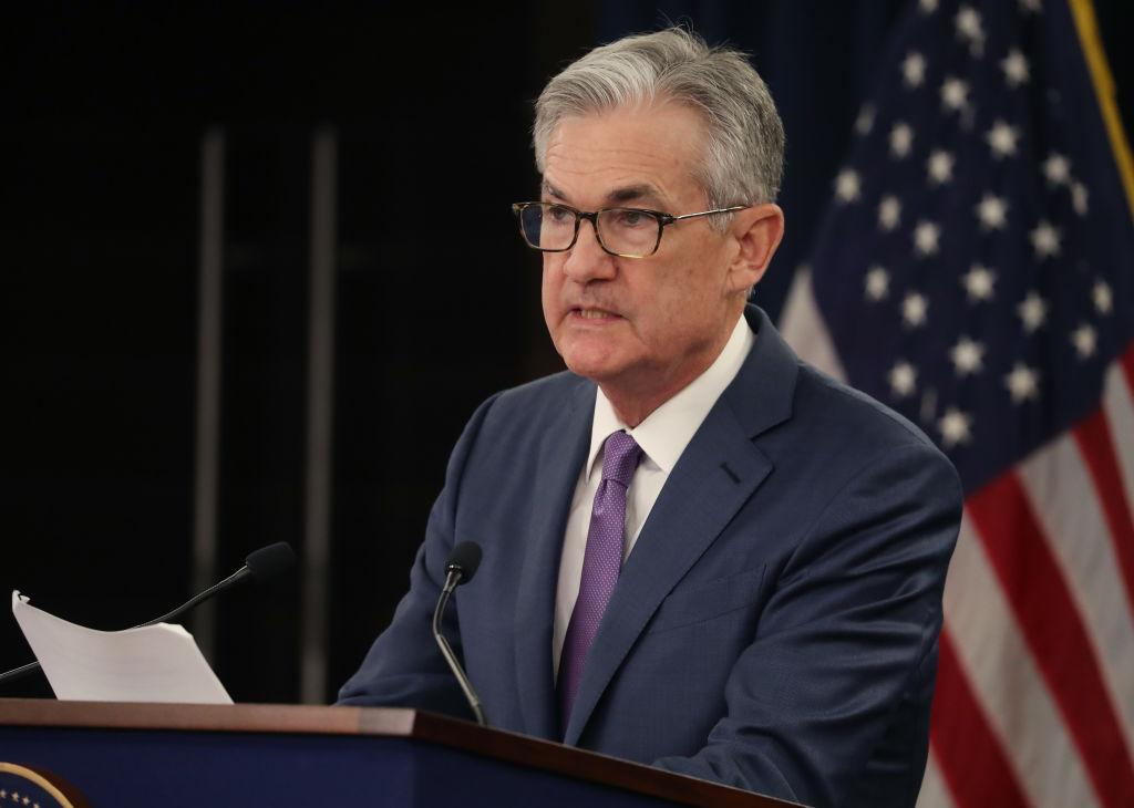 美聯儲主席傑羅姆·鮑威爾( Jerome Powell)9月6日承諾將不惜一切代價維持美國經濟增長。圖為鮑威爾7月31日在一個新聞發佈會上講話。(Mark Wilson/Getty Images)