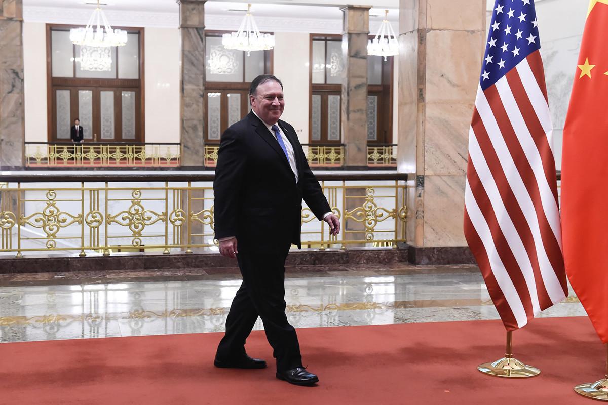 中國當然不是美國的敵人,但中共確是美國的敵人,也是中國人民的敵人,還是世界文明的敵人。圖為美國國務卿蓬佩奧(Mike Pompeo)在北京。(Getty Images)