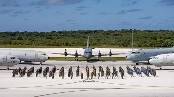 1月28日,美國、澳洲、加拿大、印度和日本合作的「海龍2021」反潛演習在關島結束。(美國印太司令部)