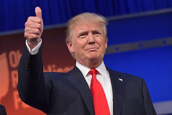 據美聯社5月26日報道,美國共和黨總統參選人特朗普已獲1238張黨代表票,超過共和黨總統競選提名所需的1237張票。(MANDEL NGAN/AFP/Getty Images)