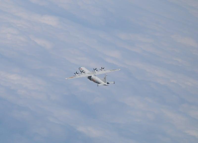 中華民國國防部發佈共機動態,1架運8遠干機、1架運8技偵機2021年4月26日上午侵擾台灣西南防空識別區(ADIZ)。圖為運8技偵同型機。(台灣國防部提供)