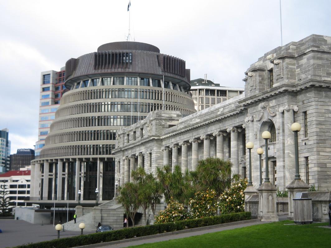 圖為紐西蘭國會大廈。(大紀元)